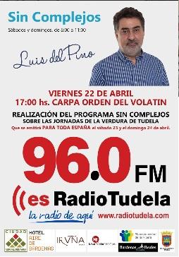 AGENDA: 22 de abril, en Carpa Queiles de Tudela, Programa Sin Complejos con Luis del Pino
