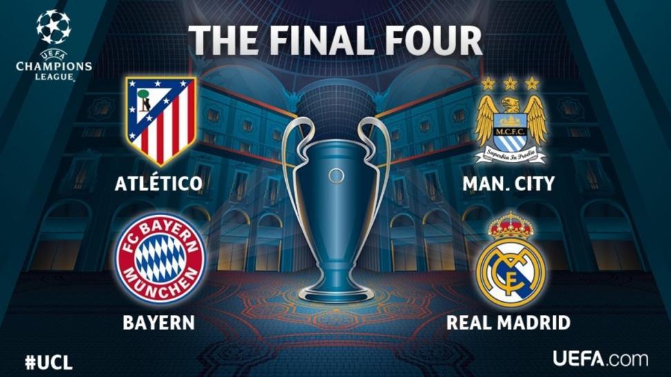 Manchester City-Real Madrid y At. Madrid-Bayern Múnich, en semifinales de la Liga de Campeones