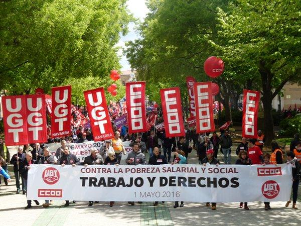 1 de Mayo en Pamplona contra la pobreza salarial y social