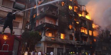 Un gran incendio en el centro de El Cairo causa 3 muertos y más de 90 heridos