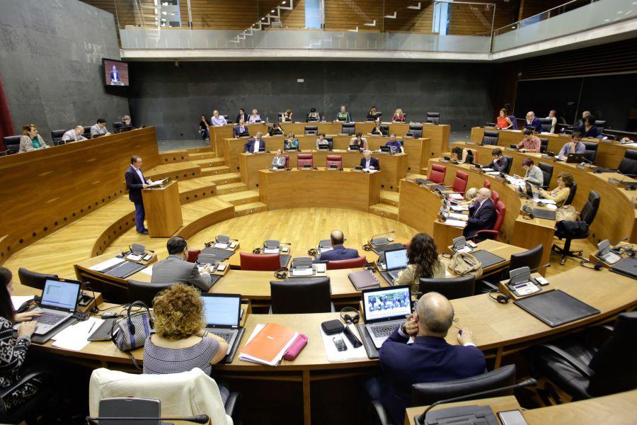 El Pleno del Parlamento de Navarra rechaza el proyecto de Ley de Cuentas Generales de Navarra de 2015