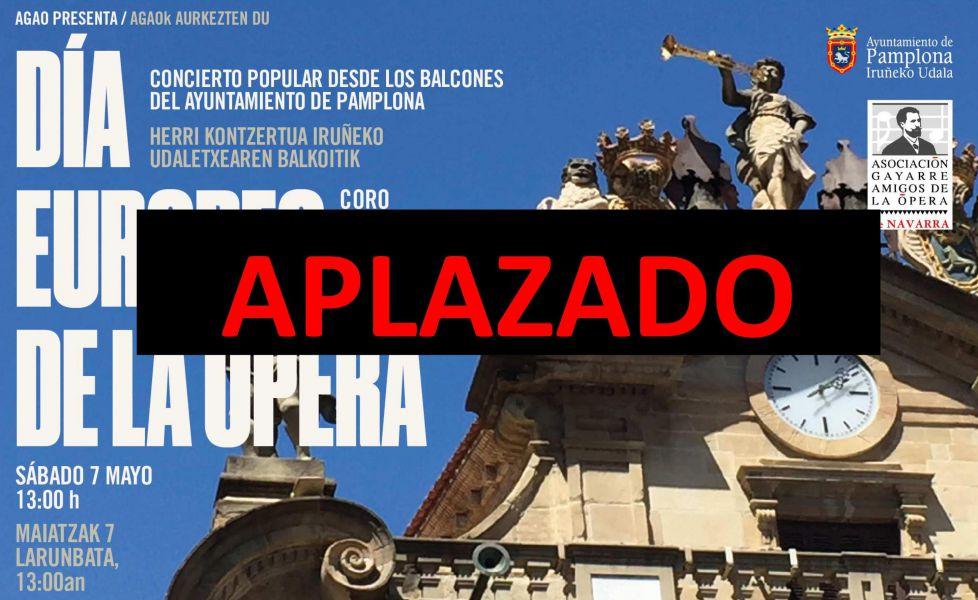 Se pospone el concierto de AGAO en los balcones del Ayuntamiento