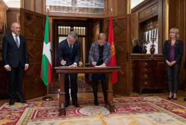 """Barkos y Urkullu firman la """"alianza"""" de colaboración y cooperación de Navarra con 'Euskadi'"""