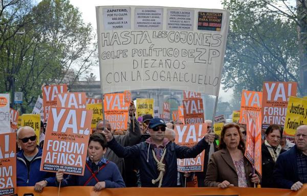 Miles de afectados de Fórum-Afinsa exigen justicia 10 años después del fraude