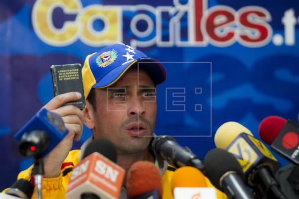 Capriles pide ignorar el estado de excepción dictado en Venezuela por Maduro