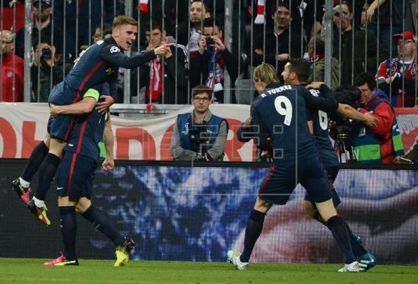 2-1. El Atlético de Madrid jugará la final tras eliminar al Bayern