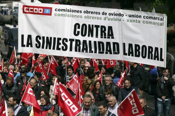 Barcelona, Madrid y Murcia, con más muertos en accidentes laborales