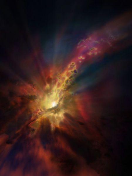 Observan por primera vez frío diluvio intergaláctico que alimenta agujero negro