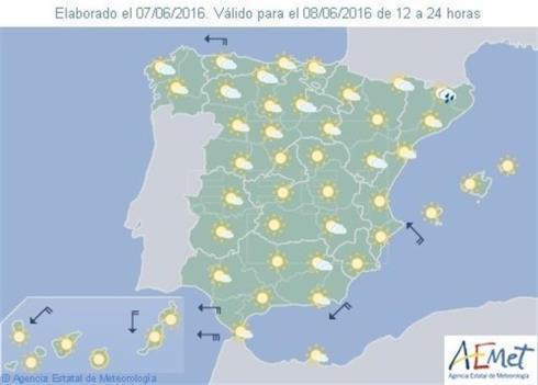 Mañana, mucho calor en el sur, en Navarra las temperaturas diurnas en aumento