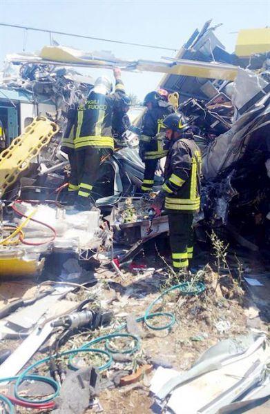 Asciende a 20 muertos el balance provisional en el accidente de tren en Italia