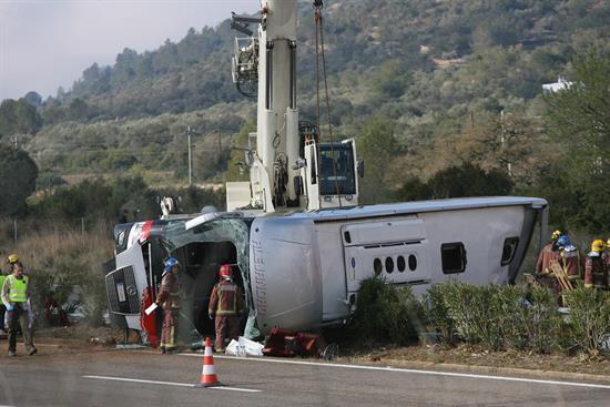 El cansancio del conductor, causa de accidente de Tarragona en el que murieron 13 estudiantes