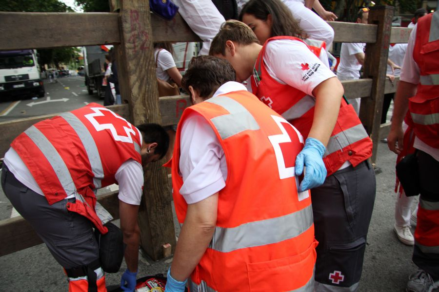 Balance de heridos de Cruz Roja en el séptimo encierro de San Fermín 2016