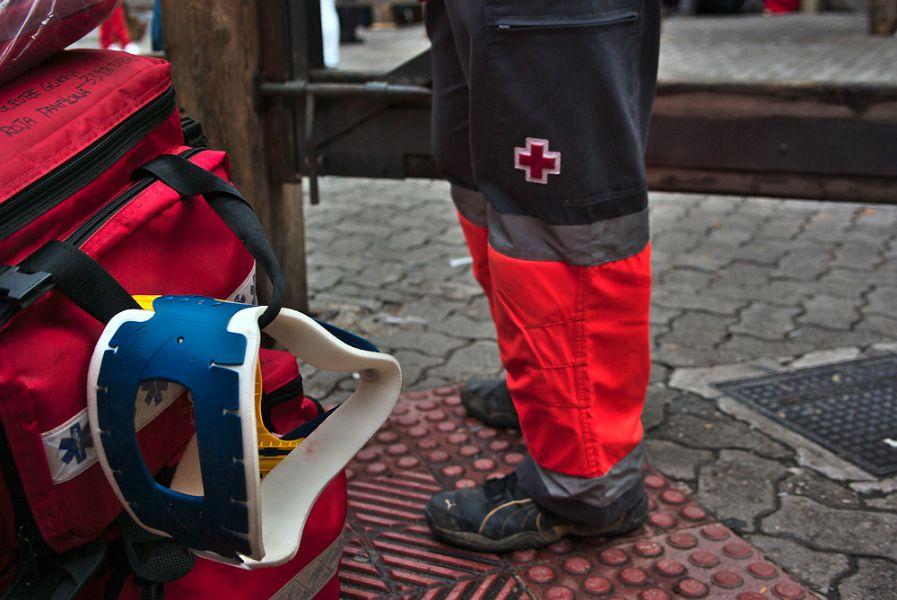Balance de Cruz Roja Navarra en el primer encierro de San Fermín 2016