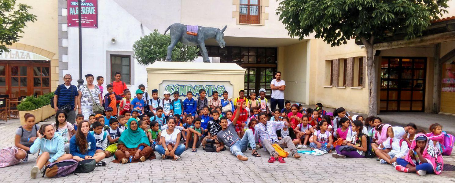 90 niños saharauis visitan Sendaviva en Navarra