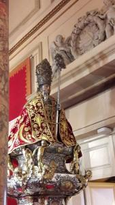 San Fermín, en la Iglesia de San Lorenzo, preparado para la Procesión. I.C.G.Navarrainformacion.es