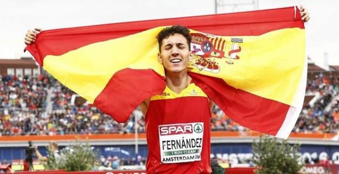 El navarro Sergio Fernández, plata en 400 vallas