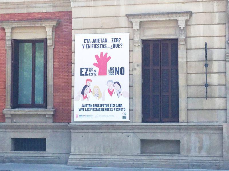 El Parlamento de Navarra se suma a unas fiestas libres de agresiones sexistas