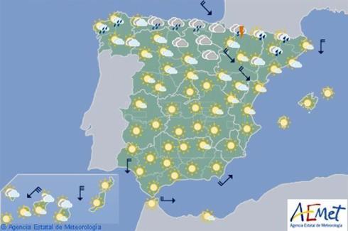Las lluvias se concentran en el norte y las temperaturas inician un descenso