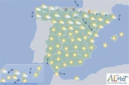 Inicio de descenso de temperaturas y lluvia en el norte de España