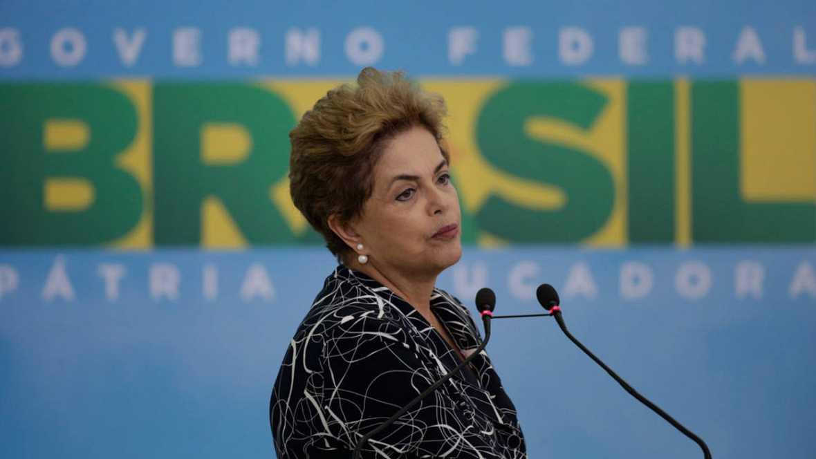 Rousseff concluye su comparecencia y Senado deja el debate final para el martes