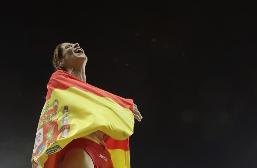 Ruth Beitia, medalla de plata en los Europeos de Belgrado