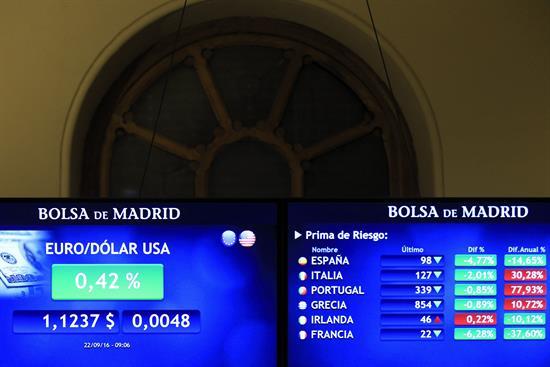 La prima de riesgo española baja a 118 puntos por la subida del bono alemán