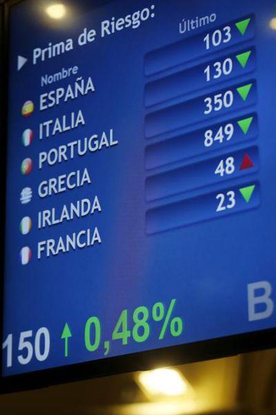 La prima de riesgo baja a 112 puntos por la subida del bono alemán
