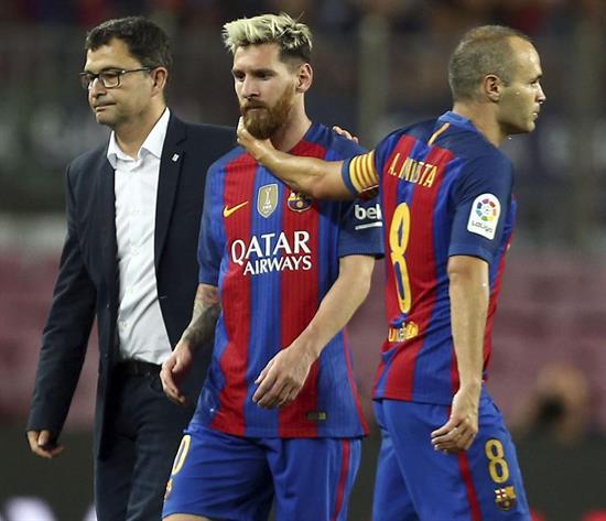 1-1. El Atlético gana un punto; el Barça en vilo por Messi