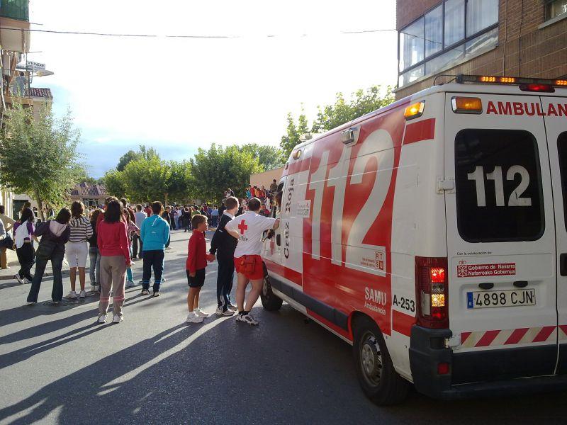 Cruz Roja activa en Lodosa el dispositivo sanitario para el  toro ensogado