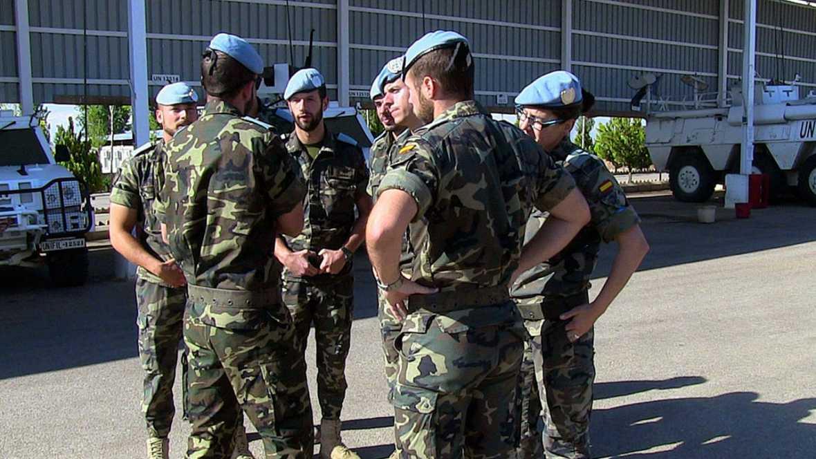 Estalla una mina al paso de un vehículo de los cascos azules españoles en el Líbano