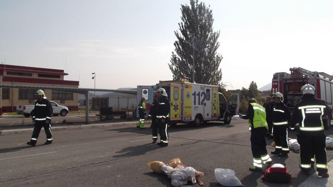 El Gobierno de Navarra colabora en un simulacro realizado en el aeropuerto