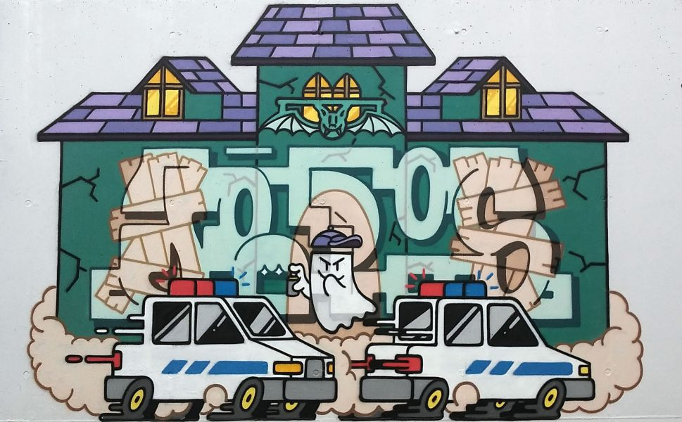 Carlos Almagro, ganador del X Concurso de grafitis Civigraff 2016