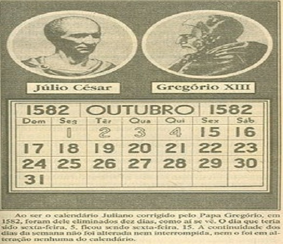 Comienza a aplicarse el calendario gregoriano