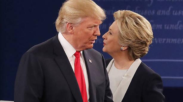 Las estimaciones antes del cierre de las urnas dan a Clinton como ganadora
