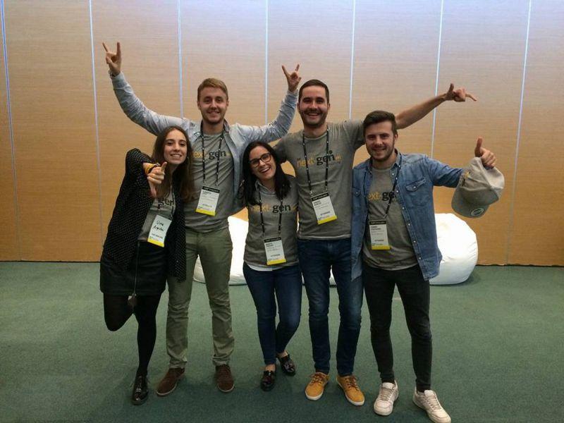 Estudiantes de la UPNA participan en un evento internacional organizado por la multinacional SAP en Barcelona