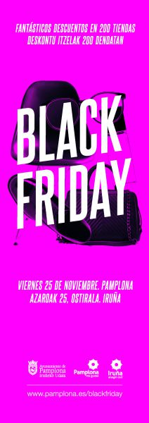 El Ayuntamiento de Pamplona impulsa este viernes el tercer Black Friday
