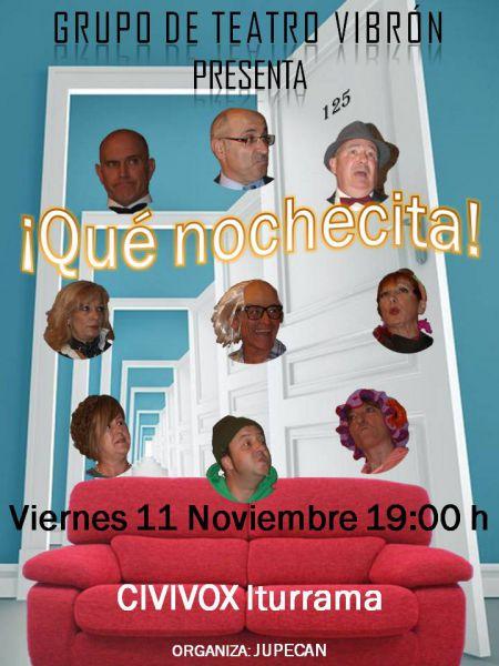 AGENDA: 11 de noviembre, en Civivox Iturrama de Pamplona, Teatro con el  'Grupo Vribón'