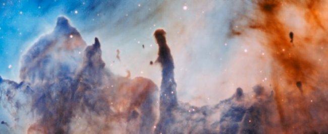 """Los """"pilares de destrucción"""" en la nebulosa de Carina"""