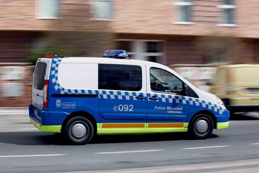 Interceptan en Pamplona un coche conducido por un niño de 9 años