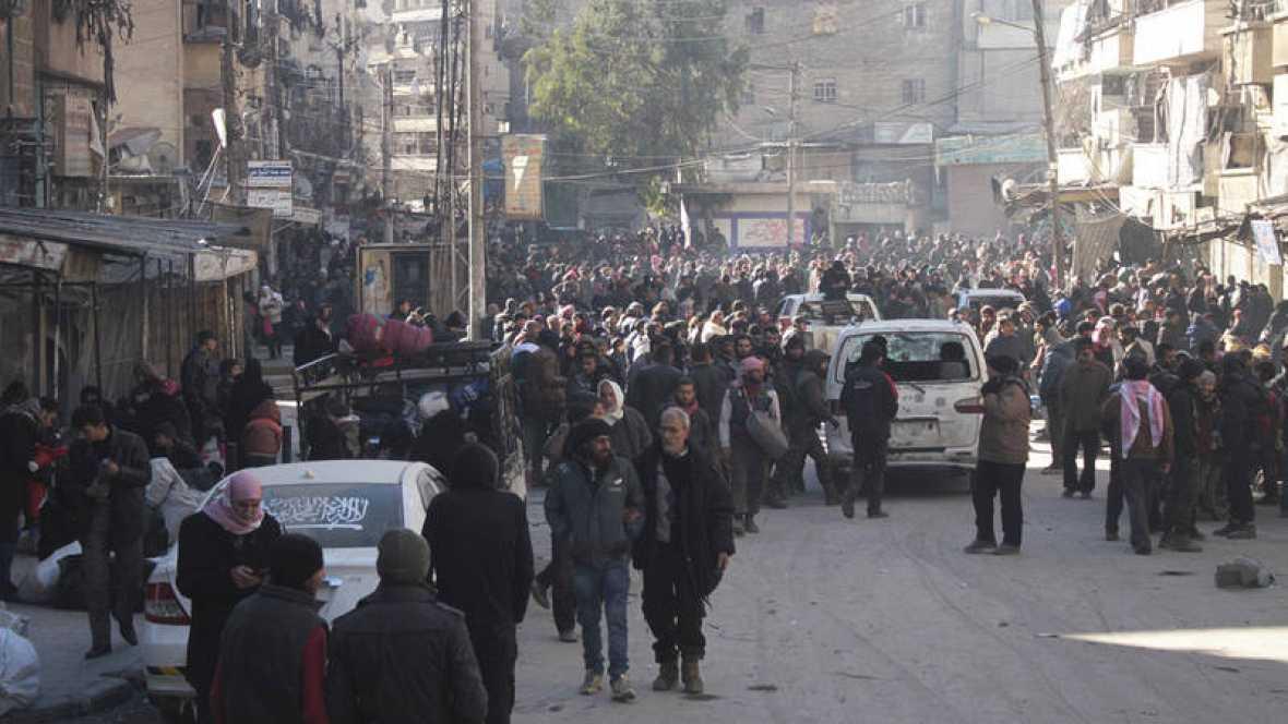 Acuerdo entre las partes para reanudar la evacuación de Alepo