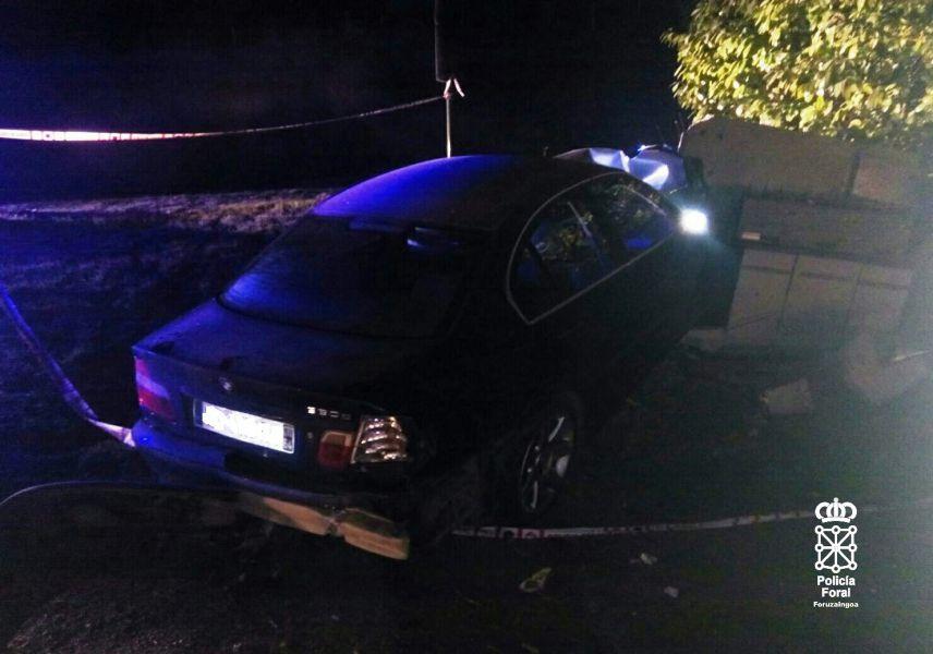 Un accidente de tráfico en Ainhoa (Francia) deja sin luz a Dancharinea y Urdax