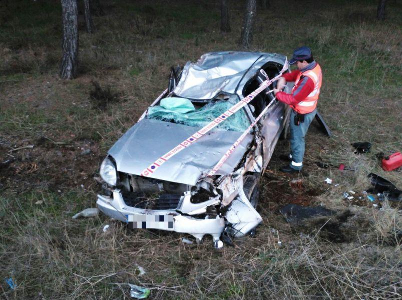 Seis conductores dan positivo en drogas en las últimas horas, uno tras salirse de la vía esta mañana en Cadreita
