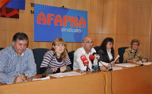AFAPNA se levanta de la Mesa General mostrando su desacuerdo con el DF del 'euskera'