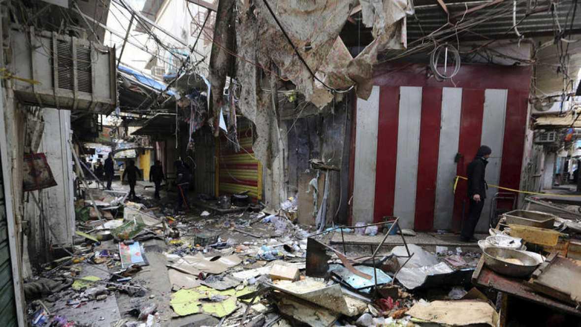 Asciende a 50 el número de muertos por un doble atentado en una provincia de mayoría chií al sur de Irak