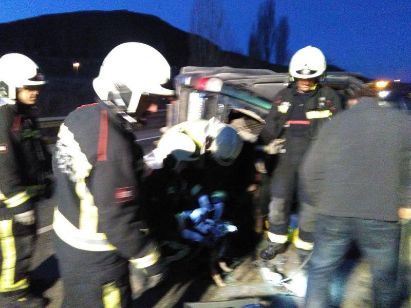Dos heridos leves en un accidente en la carretera que une Aoiz y Lumbier