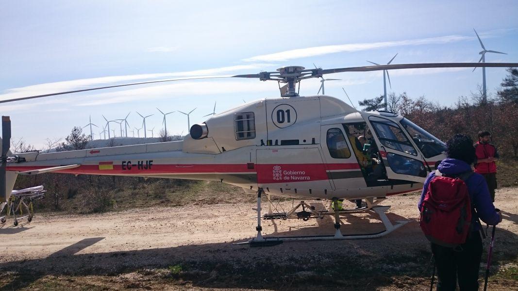 El Gobierno de Navarra contratará un helicóptero tipo Hems especialmente adaptado para el transporte sanitario