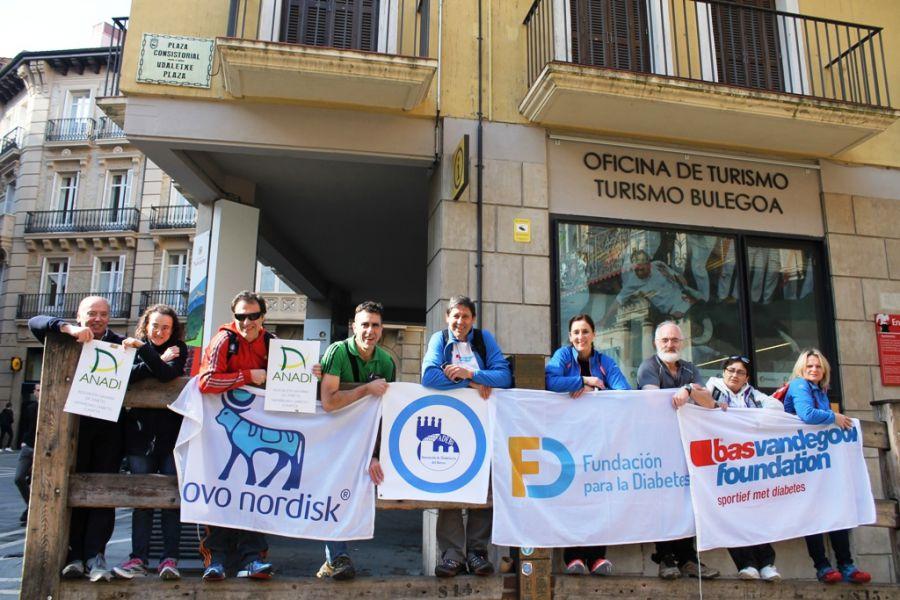 El reto 'Camina por la Diabetes a Santiago' comienza en Navarra