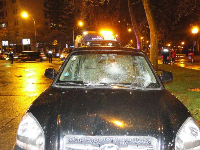 Evacuado al CHN un peatón de 37 años tras se atropellado por un conductor ebrio