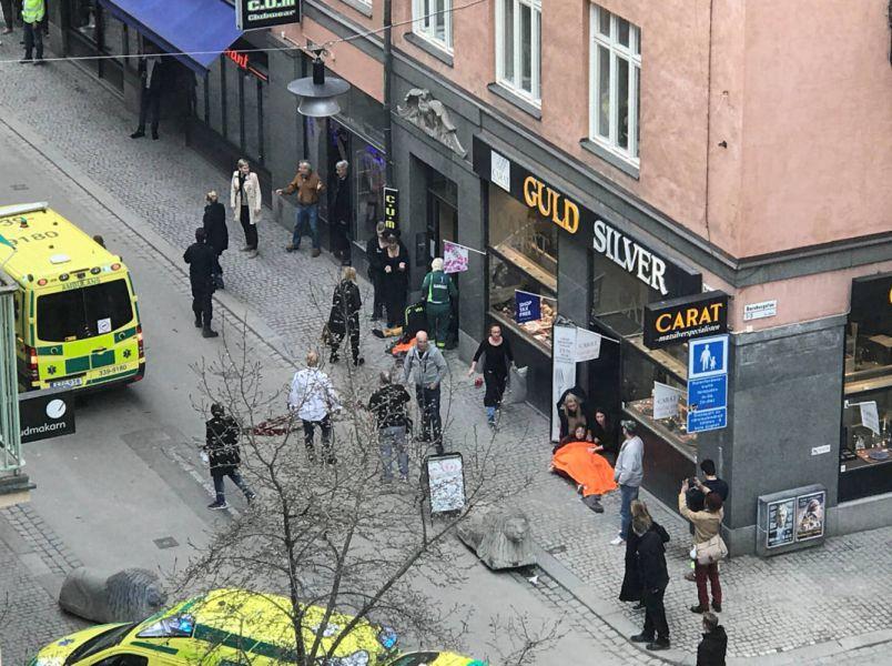 Policía confirma cuatro muertos en atentado de Estocolmo y un detenido