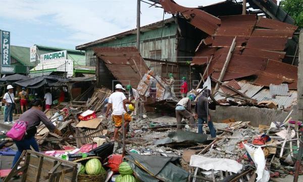 Un fuerte terremoto de magnitud 6,8 sacude a Filipinas